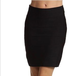 BCBG Black Simone Bandage Skirt